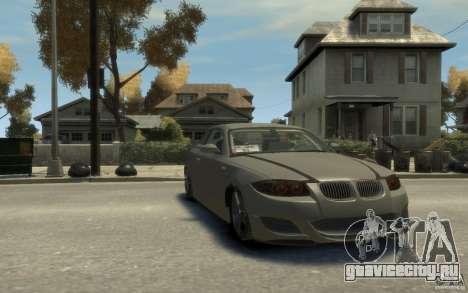 BMW 135i для GTA 4 вид сзади
