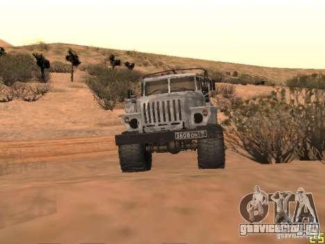 УРАЛ-43206 Зимний Камуфляж для GTA San Andreas вид слева
