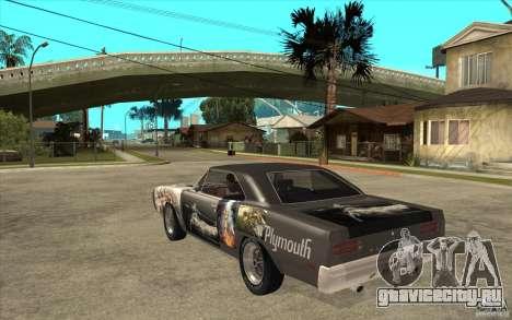 Plymouth Roadrunner Superbird Custom для GTA San Andreas вид сзади слева