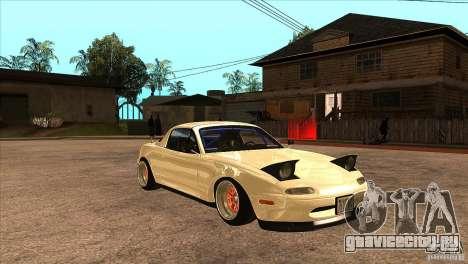 Mazda Miata JDM для GTA San Andreas вид сзади
