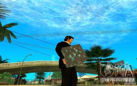 Алмазная руда из игры Minecraft для GTA San Andreas второй скриншот