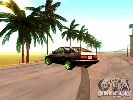 Toyota Corolla Carib AE86 для GTA San Andreas вид слева