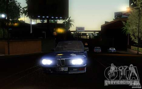 BMW E28 525e ShadowLine Stock для GTA San Andreas вид изнутри