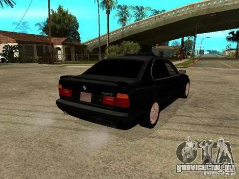 BMW e34 525 для GTA San Andreas вид сзади слева