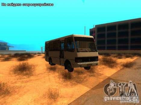 БАЗ А079.14 для GTA San Andreas вид сзади