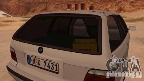 BMW M3 E36 Touring для GTA San Andreas вид изнутри
