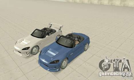 Honda S2000 Cabrio West Tuning для GTA San Andreas вид сбоку
