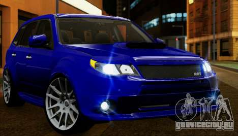 Subaru Forester RRT sport 2008 для GTA San Andreas вид сверху