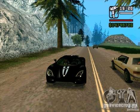 Koenigsegg Agera для GTA San Andreas