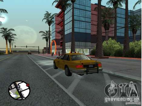 Такси из Gta IV для GTA San Andreas вид слева