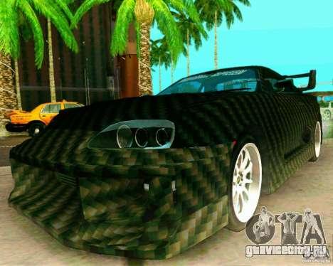 Toyota Supra Carbon для GTA San Andreas вид справа