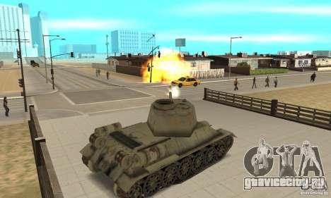 Танк T-34-85 для GTA San Andreas вид справа