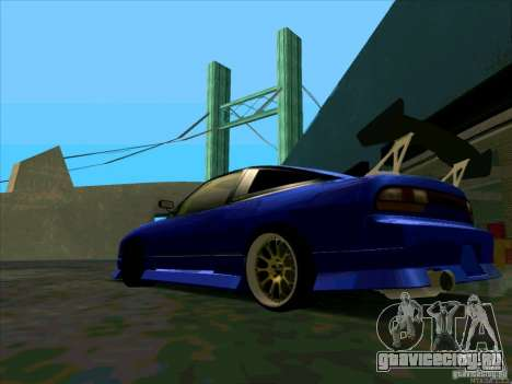 Nissan 240SX Drift Team для GTA San Andreas вид сзади слева
