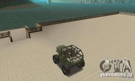 Jeep Willys Rock Crawler для GTA San Andreas вид изнутри