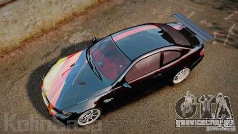 BMW E92 M3 Threep Edition для GTA 4 вид справа