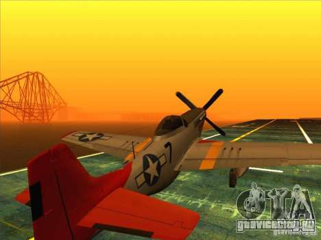 P51D Mustang Red Tails для GTA San Andreas
