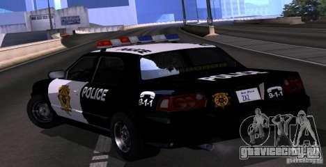 NFS Undercover Police Car для GTA San Andreas вид слева