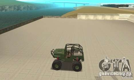 Jeep Willys Rock Crawler для GTA San Andreas вид сзади