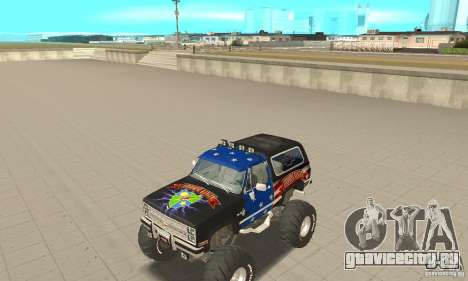 Chevrolet Blazer K5 Monster Skin 3 для GTA San Andreas вид слева