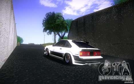 Toyota Supra Drift для GTA San Andreas вид сзади
