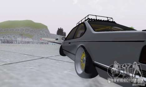 BMW M635CSi Stanced для GTA San Andreas вид сзади