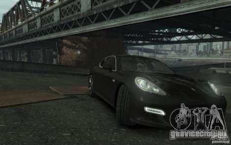 Porsche Panamera Turbo для GTA 4 вид изнутри