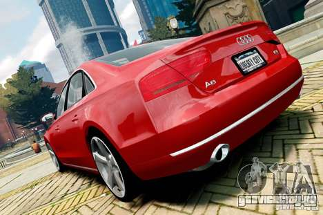 Audi A8 2010 V8 FSI для GTA 4 вид справа