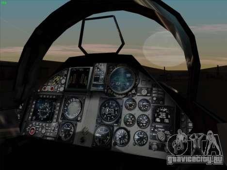 F-15C для GTA San Andreas вид сбоку