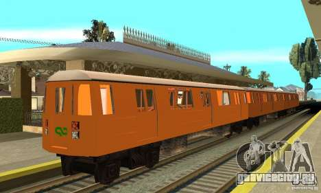 Liberty City Train CP для GTA San Andreas вид сзади слева
