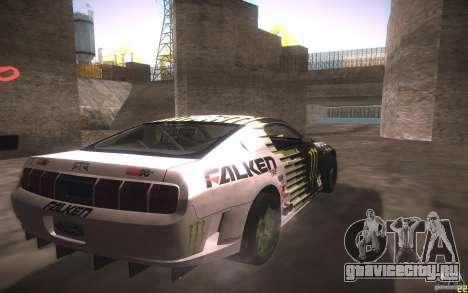 Ford Mustang Monster Energy для GTA San Andreas вид сзади