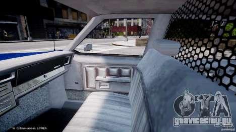 Chevrolet Impala Police 1983 [Final] для GTA 4 вид изнутри