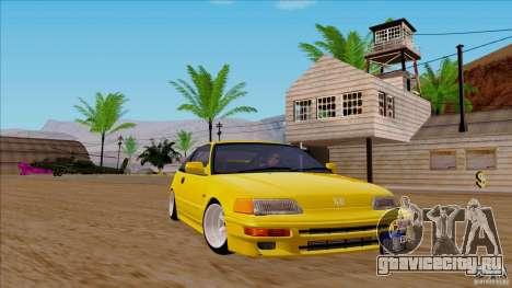 Honda CRX Hella Flush для GTA San Andreas вид сзади слева