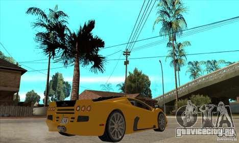 SSC Ultimate Aero FM3 version для GTA San Andreas вид справа