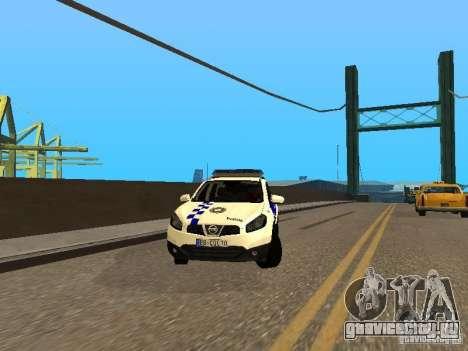 Nissan Qashqai Espaqna Police для GTA San Andreas вид сзади