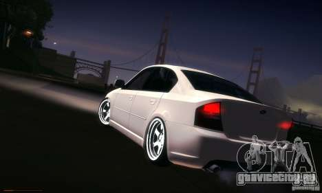 Subaru Legacy BIT edition 2004 для GTA San Andreas вид снизу