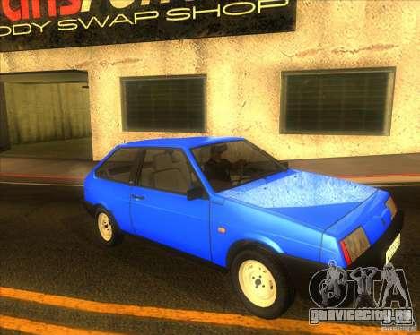 ВАЗ 2108 для GTA San Andreas вид изнутри
