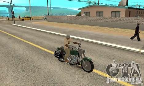 Harley Davidson FLSTF (Fat Boy) v2.0 Skin 1 для GTA San Andreas вид справа