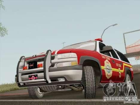 Chevrolet Suburban SFFD для GTA San Andreas вид слева