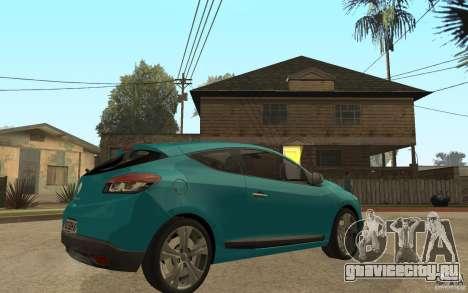 Renault Megane 3 Coupe для GTA San Andreas вид справа