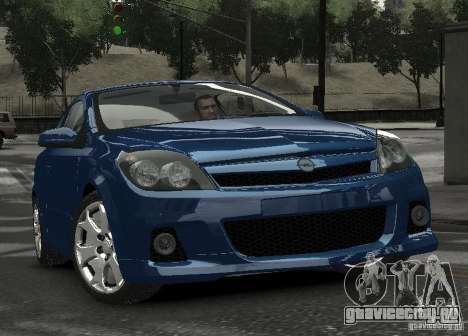 Opel Astra OPC для GTA 4 вид сзади