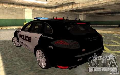 Porsche Cayenne Turbo 958 Seacrest Police для GTA San Andreas вид слева