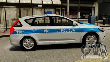 Kia Ceed 2011 SW Polish Police ELS для GTA 4 вид слева