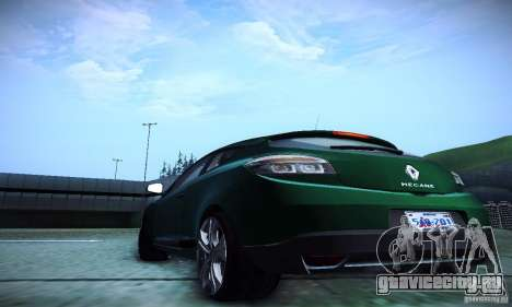 Renault Megane Coupe для GTA San Andreas вид изнутри