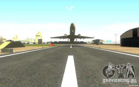 Sukhoi SuperJet-100 для GTA San Andreas вид сзади слева