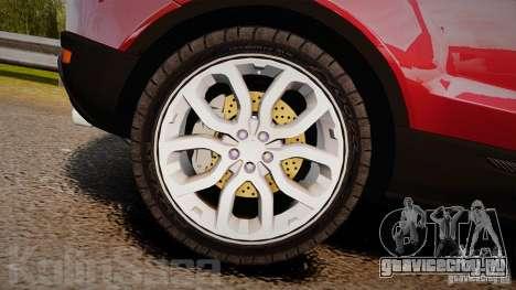 Range Rover Evoque для GTA 4 вид изнутри