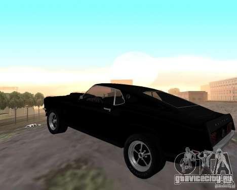 Ford Mustang Boss 1969 для GTA San Andreas вид сзади слева