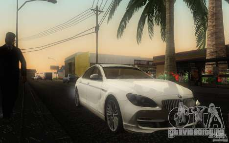 BMW 6 Series Gran Coupe 2013 для GTA San Andreas вид сзади