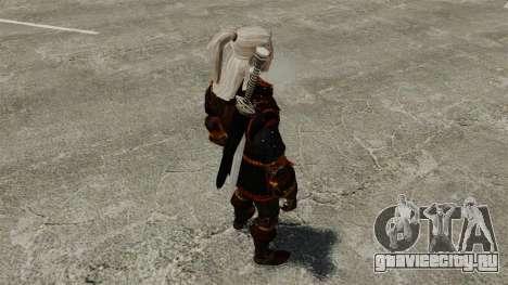Геральт из Ривии v4 для GTA 4 четвёртый скриншот