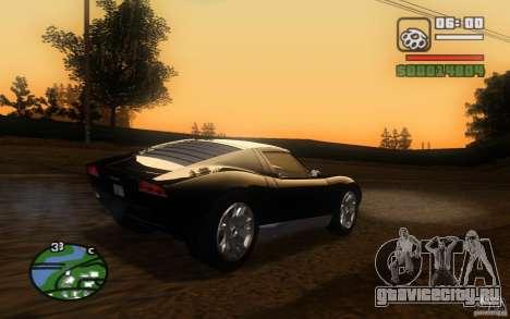 Lamborghini Miura Concept для GTA San Andreas вид изнутри
