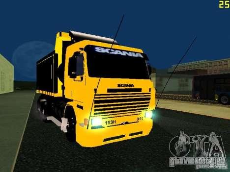 Scania 113H для GTA San Andreas вид сзади